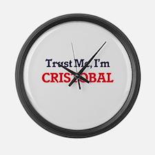 Trust Me, I'm Cristobal Large Wall Clock