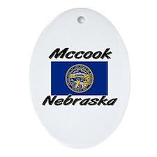 Mccook Nebraska Oval Ornament