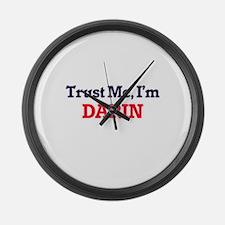 Trust Me, I'm Darin Large Wall Clock