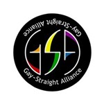 "GSA Spin Black 3.5"" Button (100 pack)"