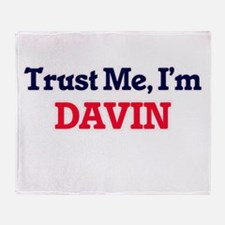 Trust Me, I'm Davin Throw Blanket