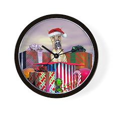 Brindle Dane Claus Wall Clock