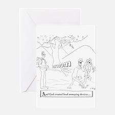 Leaf Blower Cartoon 9326 Greeting Card