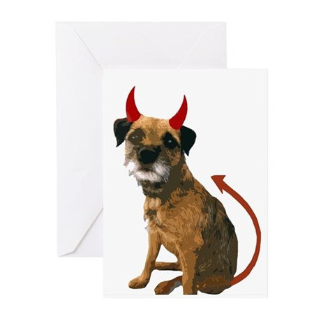 tony devil halloween 2 Greeting Cards