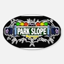 Park Slope (Black) Oval Decal