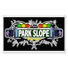 Park Slope (Black) Rectangle Decal