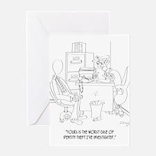 Identity Theft Cartoon 9239 Greeting Card
