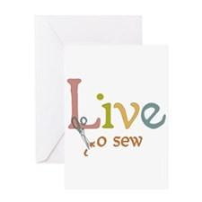 Live To Sew Greeting Card