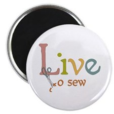 Live To Sew Magnet