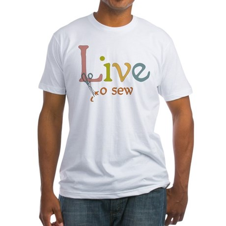 Live To Sew Fitted T-Shirt