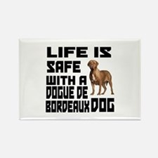 Life Is Safe With ADog Rectangle Magnet (100 pack)
