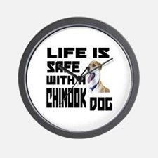 Life Is Safe With A Chinook Wall Clock