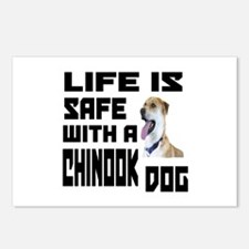 Life Is Safe With A Chino Postcards (Package of 8)