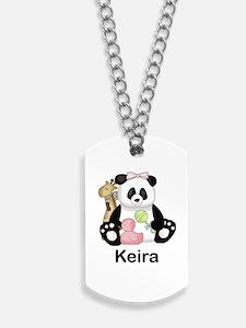 keira's little panda Dog Tags