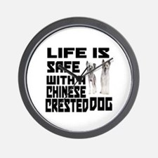 Life Is Safe With A Chinese Crested Wall Clock
