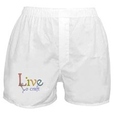 Live To Craft Boxer Shorts