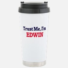 Trust Me, I'm Edwin Stainless Steel Travel Mug