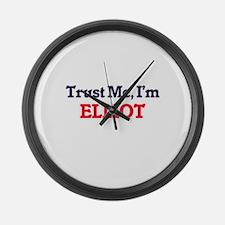 Trust Me, I'm Elliot Large Wall Clock