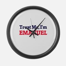 Trust Me, I'm Emanuel Large Wall Clock