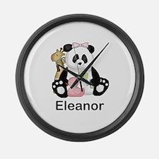 eleanor's little panda Large Wall Clock