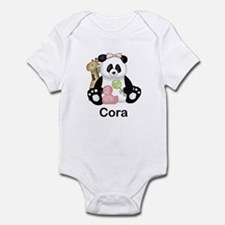 cora's little panda Infant Bodysuit