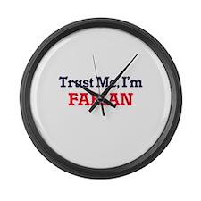 Trust Me, I'm Fabian Large Wall Clock