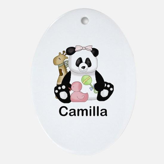 camilla's little panda Oval Ornament