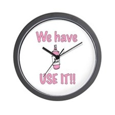 We Have Spray, Use IT!! Wall Clock