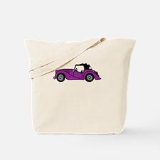 Purple Morgan Car Cartoon Tote Bag