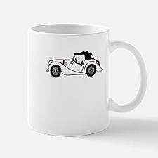 White Morgan Car Cartoon Mug