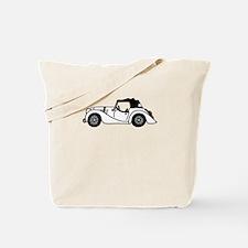 White Morgan Car Cartoon Tote Bag