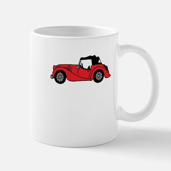 Red Morgan Car Cartoon Mug