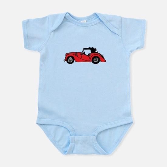 Red Morgan Car Cartoon Infant Bodysuit