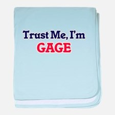 Trust Me, I'm Gage baby blanket