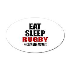 Eat Sleep Rugby Wall Decal