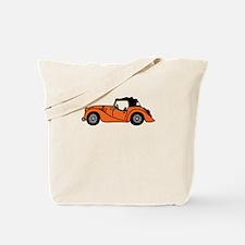Orange Morgan Car Cartoon Tote Bag