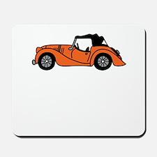 Orange Morgan Car Cartoon Mousepad
