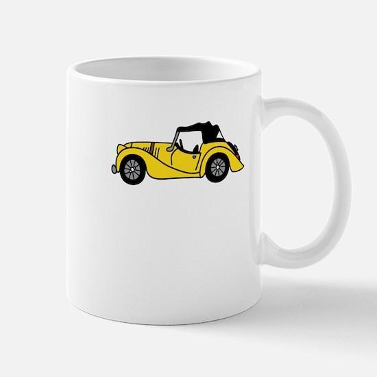 Yellow Morgan Car Cartoon Mug