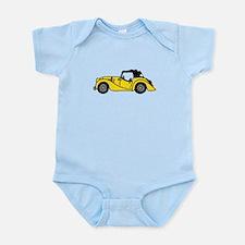 Yellow Morgan Car Cartoon Infant Bodysuit