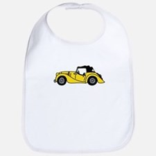 Yellow Morgan Car Cartoon Bib