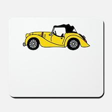 Yellow Morgan Car Cartoon Mousepad