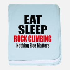 Eat Sleep Rock Climbing baby blanket