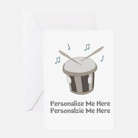 Personalized Drum Card Greeting Cards