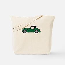 Green Morgan Car Cartoon Tote Bag