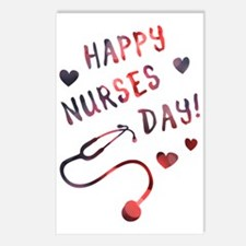 Nurses Day Bokeh Postcards (package Of 8)