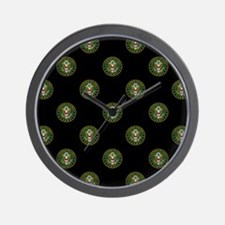 U.S. Army: Circle Symbol (Black) Wall Clock