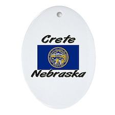 Crete Nebraska Oval Ornament