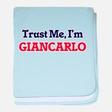Trust Me, I'm Giancarlo baby blanket
