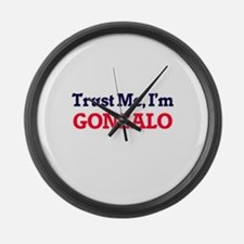 Trust Me, I'm Gonzalo Large Wall Clock