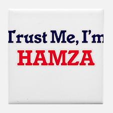 Trust Me, I'm Hamza Tile Coaster